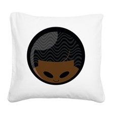 Brushwave Icon Square Canvas Pillow
