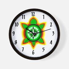 SOUTHEASTERN TRIBAL TURTLE Wall Clock