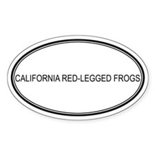 Oval Design: CALIFORNIA RED-L Oval Decal