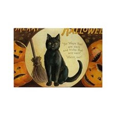Vintage Merry Halloween Rectangle Magnet