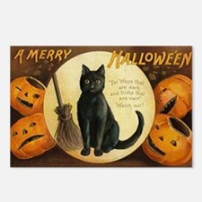Vintage Merry Halloween Postcards (Package of 8)