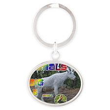 Animals Big and Small Calendar Oval Keychain