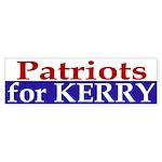 Patriots for Kerry (bumper sticker)