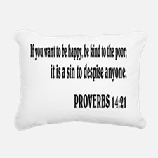 PROVERBS 14:21 Rectangular Canvas Pillow