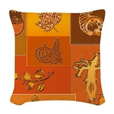 Fall Woven Throw Pillow