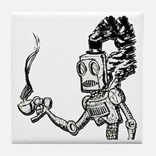 Old School Steambot Tile Coaster