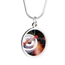 Internet theft Silver Round Necklace