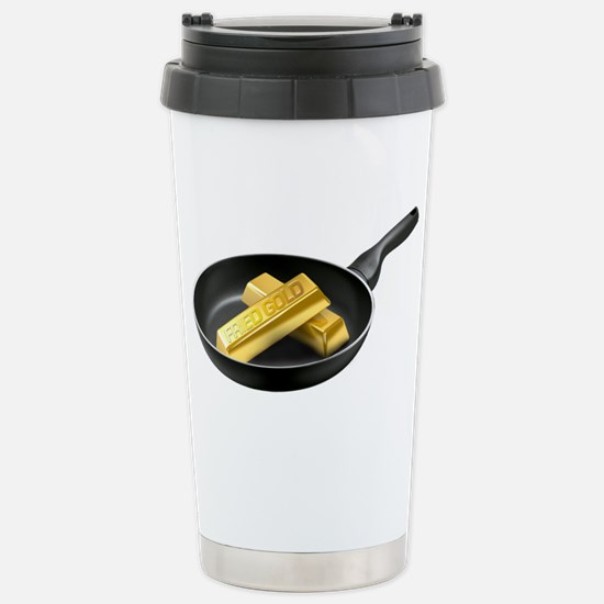 Fried Gold Spaced Stainless Steel Travel Mug