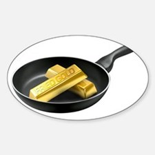 Fried Gold Spaced Sticker (Oval)