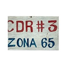 CDR 3 Zona 65 Rectangle Magnet