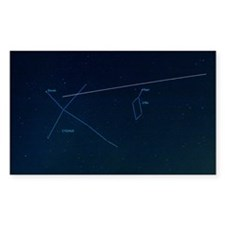ISS light trail and constellat Decal