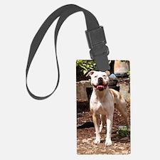 American Bulldog Luggage Tag