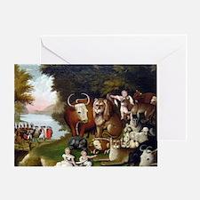 Edward Hicks Peaceable Kingdom. Greeting Card