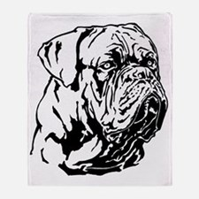 Dogue De Bordeaux. Throw Blanket