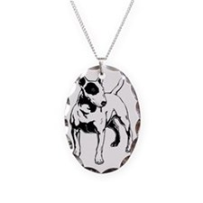 English Bull Terrier Necklace Oval Charm
