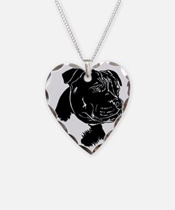 Staffordshire Bull Terrier Necklace Heart Charm