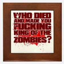 King of the Zombies Framed Tile