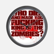 King of the Zombies Wall Clock