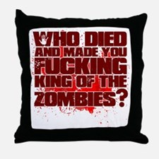 King of the Zombies Throw Pillow