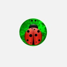 Single Ladybug Mini Button