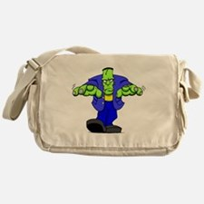 Cartoon Frankenstein Messenger Bag