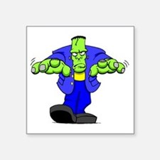 "Cartoon Frankenstein Square Sticker 3"" x 3"""
