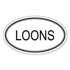 Oval Design: LOONS Oval Decal