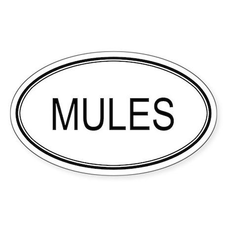 Oval Design: MULES Oval Sticker