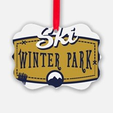 Ski Winter Park Patch Ornament