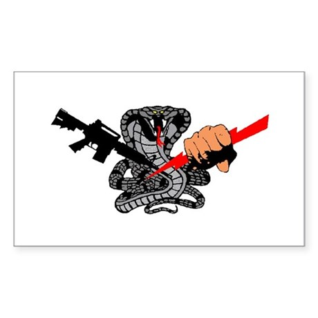 Rectangle Sticker, cobra SWAT emblem.