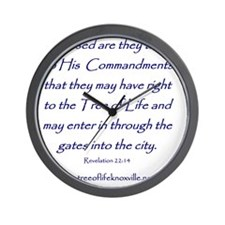 Tree of Life Knoxville Verse Wall Clock