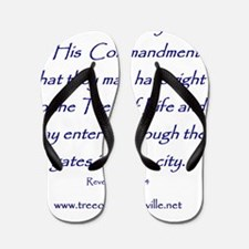 Tree of Life Knoxville Verse Flip Flops