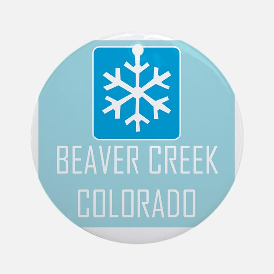 Beaver Creek Snowflake Round Ornament