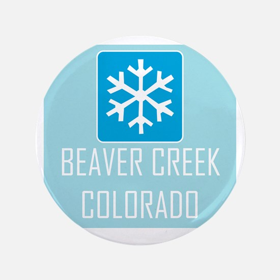 """Beaver Creek Snowflake 3.5"""" Button"""