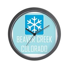 Beaver Creek Snowflake Wall Clock
