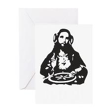 God is a Dj Greeting Card