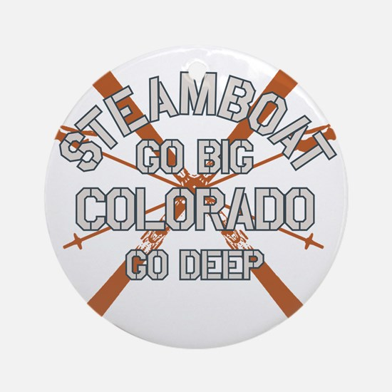 Go Big Steamboat Springs Round Ornament