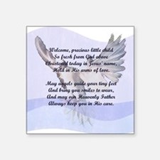 "A Christening Gift for You! Square Sticker 3"" x 3"""