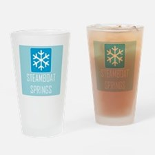 Steamboat Springs Snowflake Drinking Glass