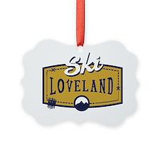 Ski Loveland Patch Ornament