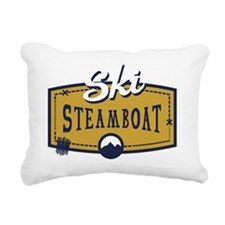 Ski Steamboat Patch Rectangular Canvas Pillow