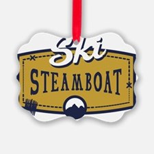 Ski Steamboat Patch Ornament
