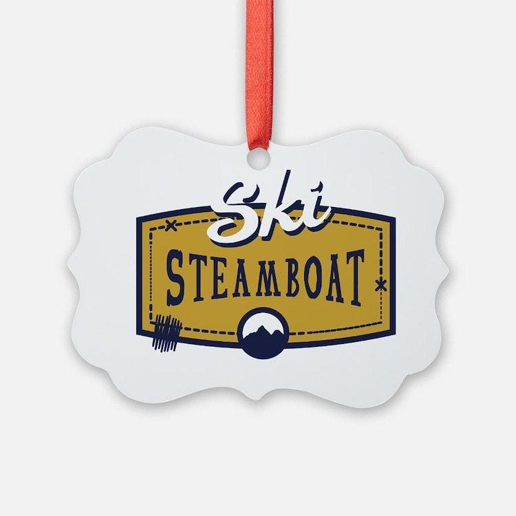Ski Steamboat Patch Ornament