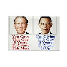 Give Obama 8-T-Shirt Rectangle Magnet