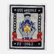 uss whipple ff patch transparent Throw Blanket