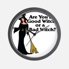 Good witch or BAD witch Wall Clock