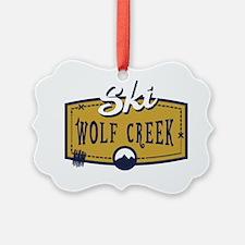 Ski Wolf Creek Patch Ornament