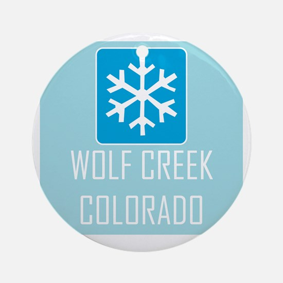 Wolf Creek Snowflake Round Ornament