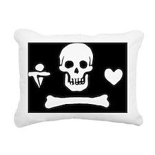 Stede Bonnet Jolly Roger Rectangular Canvas Pillow