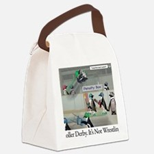 Roller Derby - Its Not Wrestling Canvas Lunch Bag